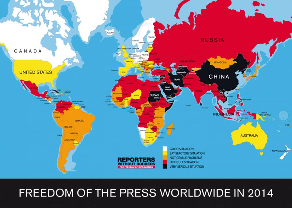 Sursa: http://www.businessinsider.com/freedom-of-the-press-worldwide-2014-2